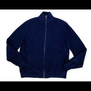 J Crew Navy Blue Cotton Cardigan Sweater